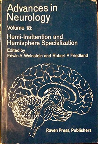 9780890041154: Hemi-inattention and hemisphere specialization (Advances in neurology)