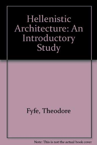 9780890050262: Hellenistic Architecture: An Introductory Study
