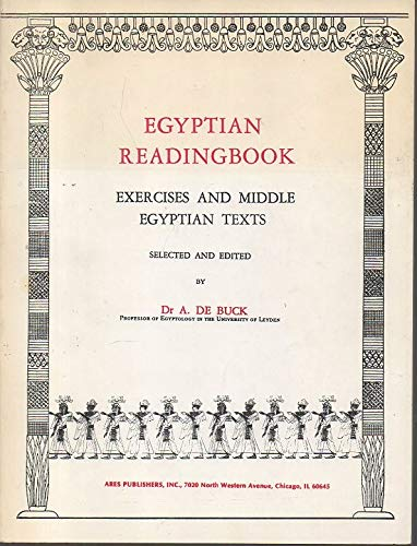 9780890052136: Egyptian Reading Book: Exercises and Middle Egyptian Texts