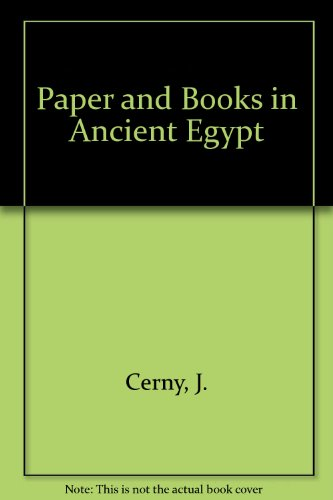 9780890052679: Paper and Books in Ancient Egypt