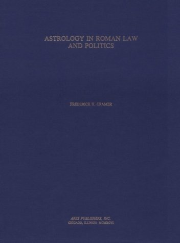 9780890055601: Astrology in Roman Law and Politics