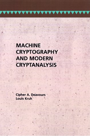 9780890061619: Machine Cryptography and Modern Cryptanalysis (Telecommunications Library)
