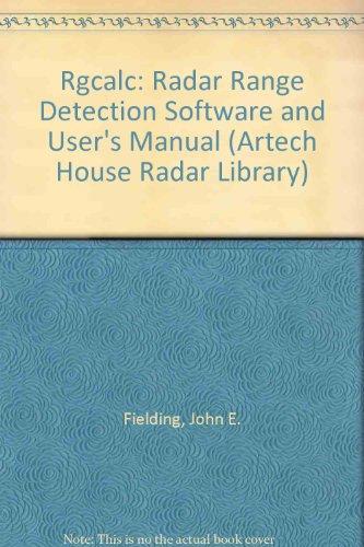 9780890062708: Rgcalc: Radar Range Detection Software and User's Manual