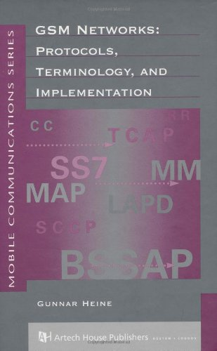 9780890064719: GSM Networks: Protocols, Terminology and Implementation (Artech House Mobile Communications Library)
