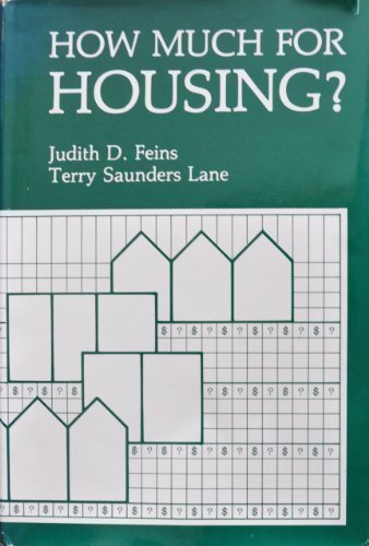 How much for housing?: New perspectives on affordability and risk: Judith D Feins