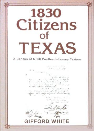 1830 citizens of Texas: Gifford White