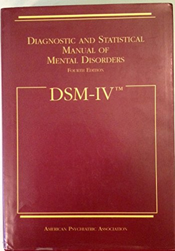 9780890420614: Dsm IV: Diagnostic and Statistical Manual of Mental Disorders