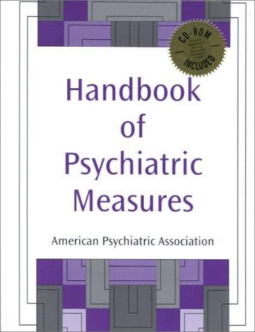 9780890424155: Handbook of Psychiatric Measures