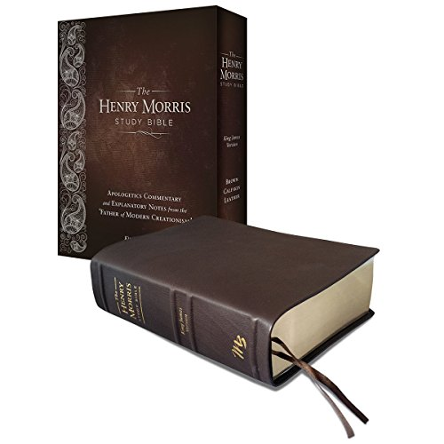 9780890519400: Henry Morris Study Bible, The (Brown Calfskin Leather)
