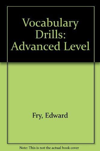 9780890614471: Vocabulary Drills: Advanced Level