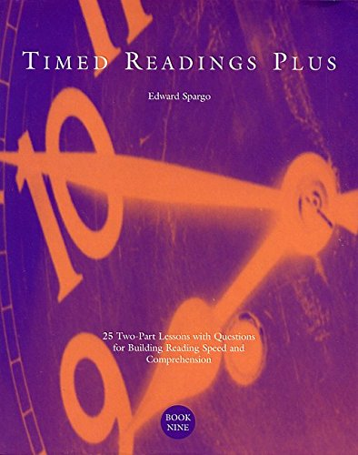 9780890619070: Timed Readings Plus: 25 Two-Part Lessons with Questions for Building Reading Speed and Comprehension, Book Five