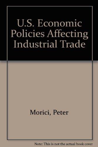 9780890680681: U.S. Economic Policies Affecting Industrial Trade: A Quantitative Assessment
