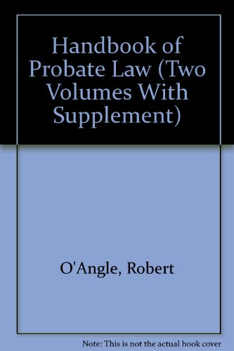 9780890740897: Handbook of Probate Law (Two Volumes With Supplement)