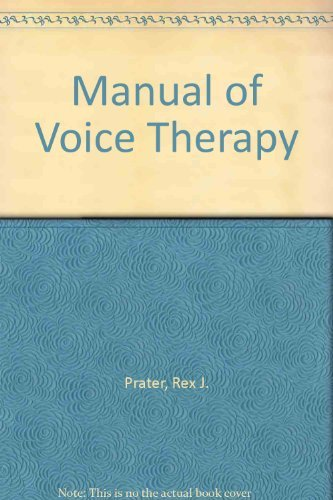 9780890792797: Manual of Voice Therapy