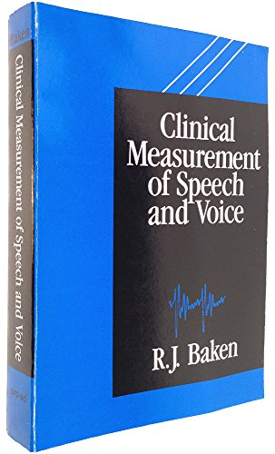 9780890793855: Clinical measurement of speech and voice
