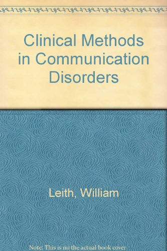 9780890795682: Clinical Methods in Communication Disorders