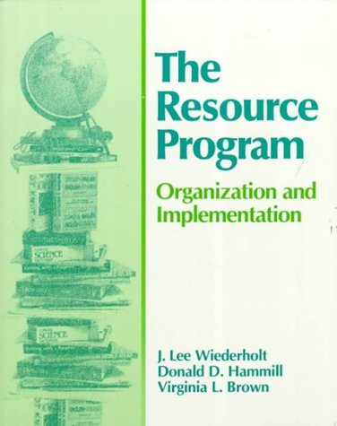 9780890795712: The Resource Program: Organization and Implementation