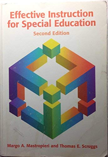 9780890795729: Effective Instruction for Special Education
