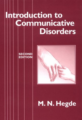 9780890796085: Introduction to Communicative Disorders