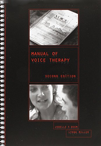 9780890798256: Manual of Voice Therapy