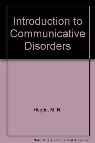 9780890798645: Introduction to Communicative Disorders