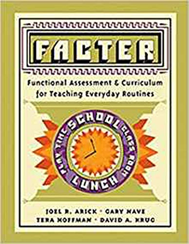 9780890799833: Facter: Functional Assessment and Curriculum of Teaching Everyday Routines Program Manual