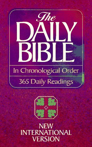 9780890817599: The Daily Bible in Chronological Order: New International Version