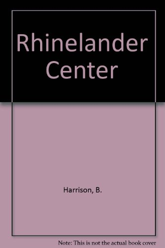 Rhinelander Center: Harrison, B.
