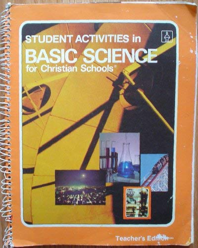 9780890842188: Student Activities in Basic Science for Christian Schools