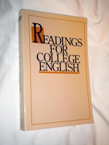 9780890845349: Readings for College English (1990 publication)