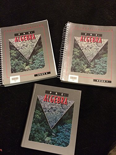 9780890847626: Pre - Algebra: For Christian schools