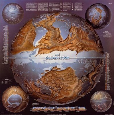 9780890874165 Map Of The Ocean Floor Poster And Booklet Abebooks