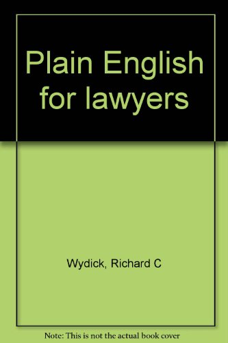English For Lawyers Book