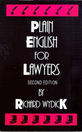 9780890892510: Plain English for lawyers