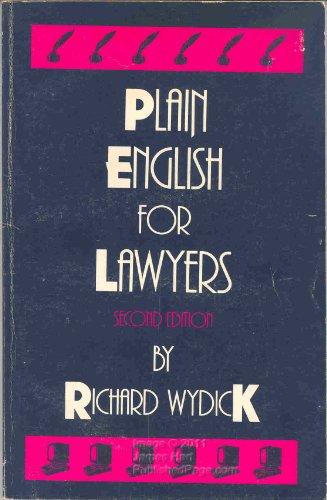9780890892565: Plain English for Lawyers