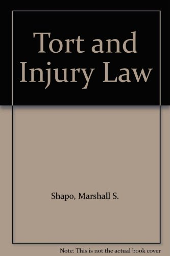 9780890893319: Tort and Injury Law