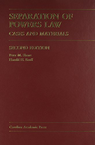 9780890893999: Separation Of Powers Law: Cases And Materials (Carolina Academic Press Law Casebook Series) Second Edition