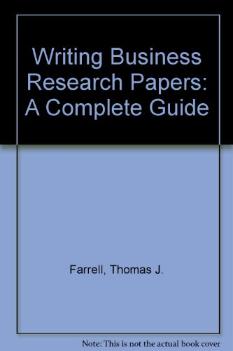 9780890894460: Writing Business Research Paper : A Complete Guide