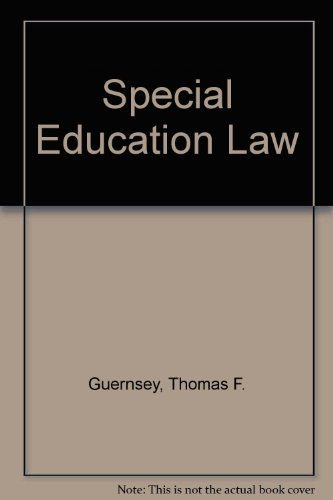 9780890897737: Special Education Law