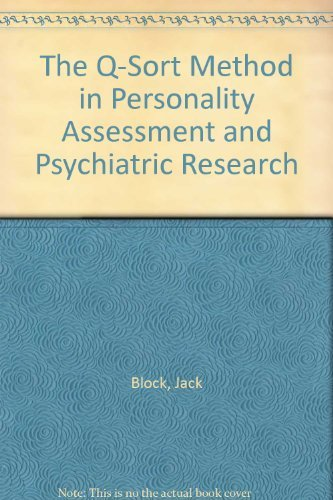 9780891060000: Q-sort Method Personality Assessment and Psychiatric Research