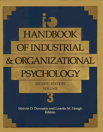 9780891060437: Handbook of Industrial and Organizational Psychology Vol. 3: v. 3 (Handbook of Industrial and Organizational Psychology 2nd ed)