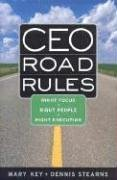 9780891062172: CEO Road Rules: Right Focus, Right People, Right Execution