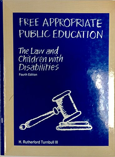 9780891082255: Free Appropriate Public Education: The Law and Children With Disabilities