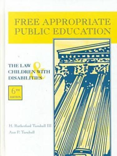 9780891082750: Free Apropriate Public Education: The Law and Children with Disabilities