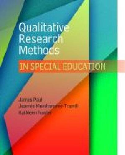 9780891083368: Qualitative Research Methods in Special Education