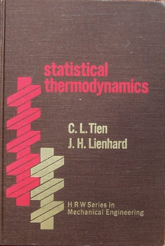 9780891160489: Statistical Thermodynamics