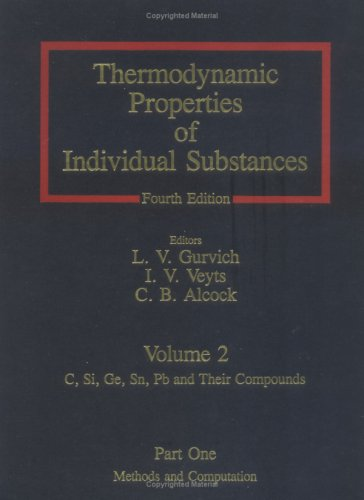 9780891165330: Thermodynamic Properties Of Individual Substances: Elements And compounds (Vol 2)