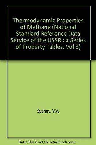 Thermodynamic Properties of Methane (National Standard Reference: V. V. Sychev