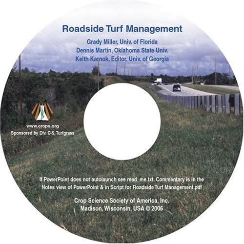 9780891185604: Roadside Turf Management