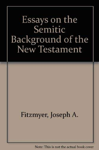 9780891303091: Essays on the Semitic Background of the New Testament